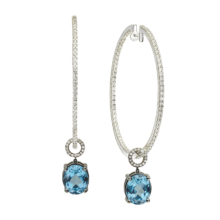 OVAL BLUE TOPAZ CHARMS
