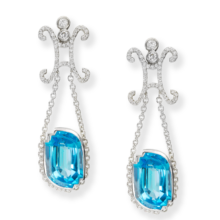 LUCY II BLUE TOPAZ EARRINGS