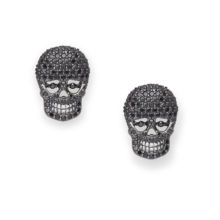 BLACK REBEL STUD EARRINGS